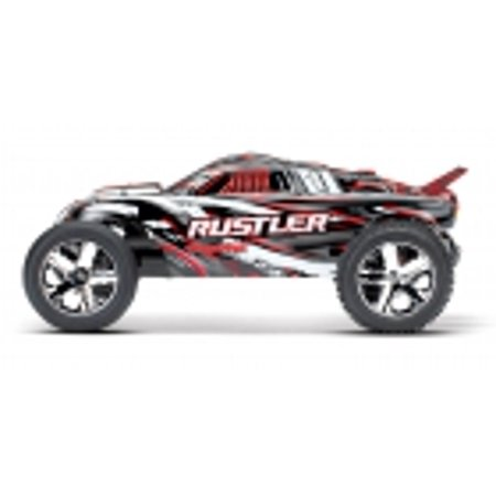 Traxxas 37054-1-REDX Traxxas Rustler XL-5 Truck Ready-To-Race TQ 2 Channel 2.4Hz (Traxxas 4 Channel Transmitter)