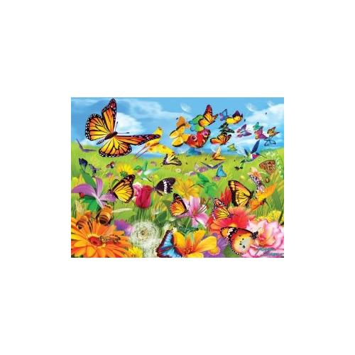 Butter Flutter Jigsaw Puzzle Multi-Colored