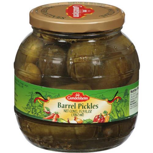 Gundelsheim Barrel Pickles, 35.9 fl oz