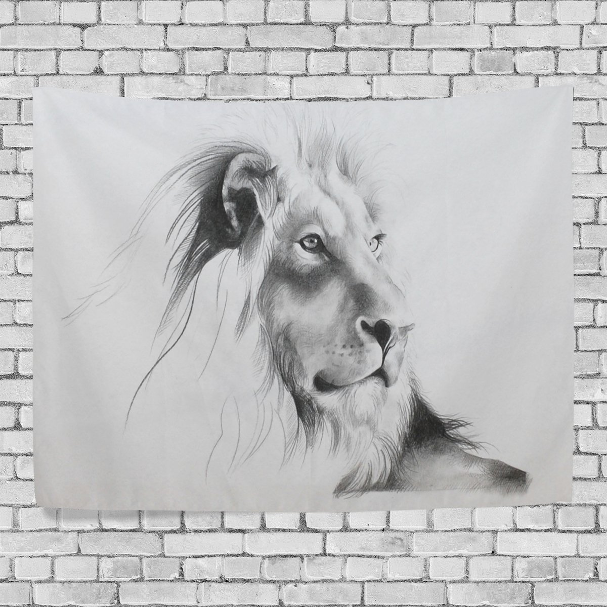 POPCreation Painting The Lion Home Decoration Wall Tapestry 60x40 inches