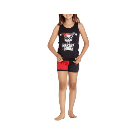 Girls' Harley Quinn 2 Piece Tank Top Pajama Sleep Set (Little Girl & Big Girl)](Harley Quinn Onesie)