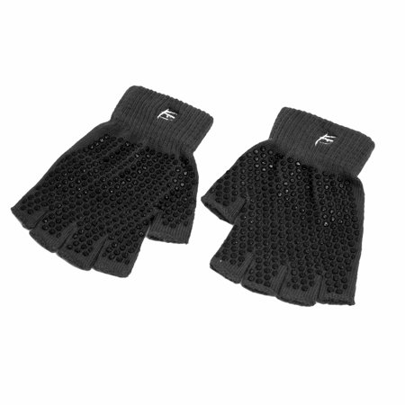 Prosource Gants de yoga antidérapantes, non-Slip Design Fingerless