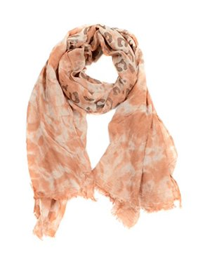 Sassy Scarves Women's Stylish Print Design Lightweight Oblong Fashion Scarf (Orange-8599)