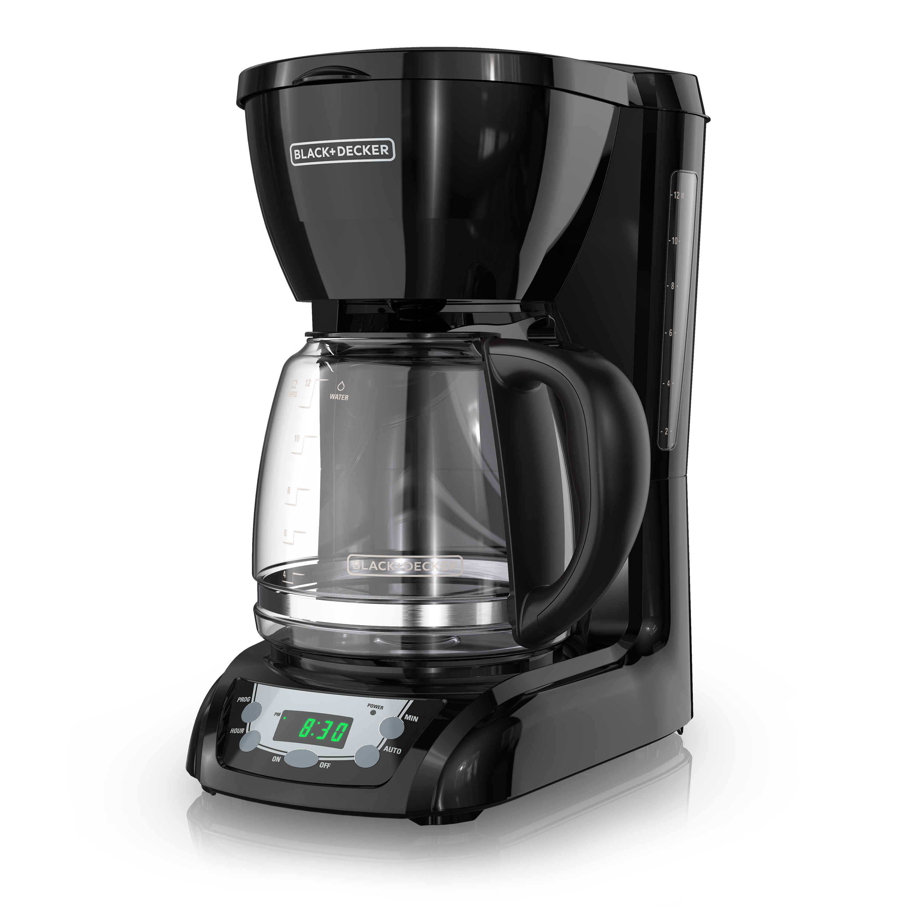 BLACK+DECKER 12-Cup* Programmable Coffeemaker, Black, DLX1050B