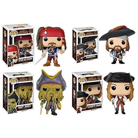 Pop! Disney: Pirates of the Caribbean Captain Jack Sparrow, Barbossa, Elizabeth Swann and Davy Jones! Vinyl Figures Set of 4 - Hector Barbossa