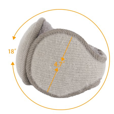 Warm Foldable Winter Knit Earmuffs for Women Men Khaki - image 1 de 5