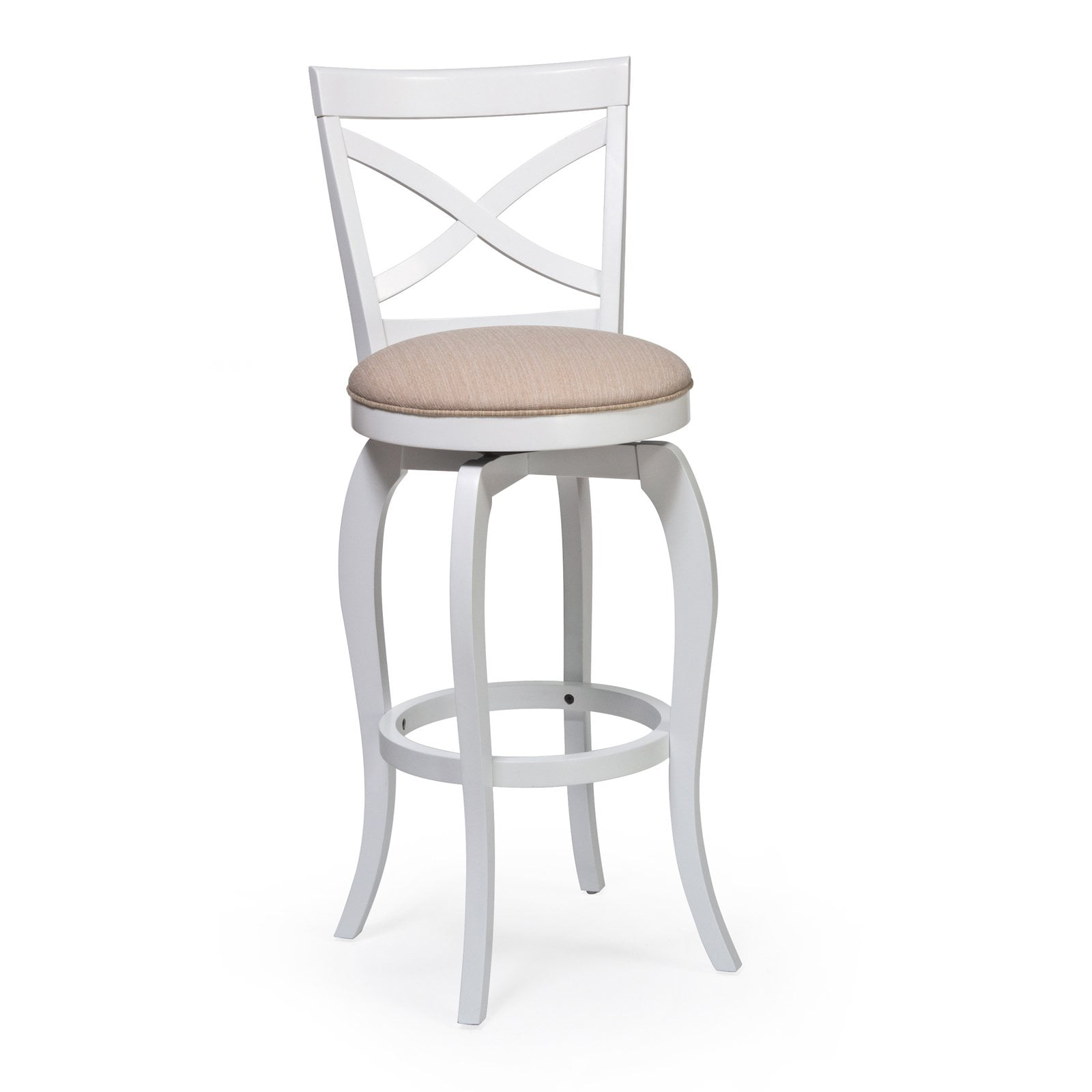 Ellendale Swivel Bar Stool White Finish Walmartcom