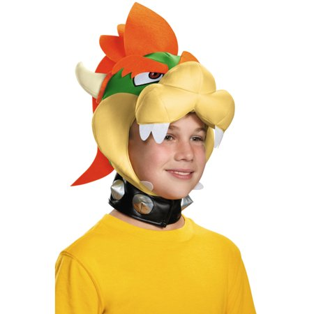 Nintendo Mario Brothers Childs Bowser Headpiece Hat Costume Accessory