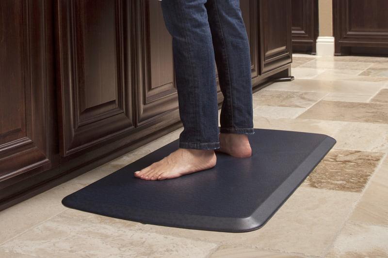 "GelPro Elite Anti-Fatigue Kitchen Comfort Mat 20x36"" Quill Atlantic Blue"