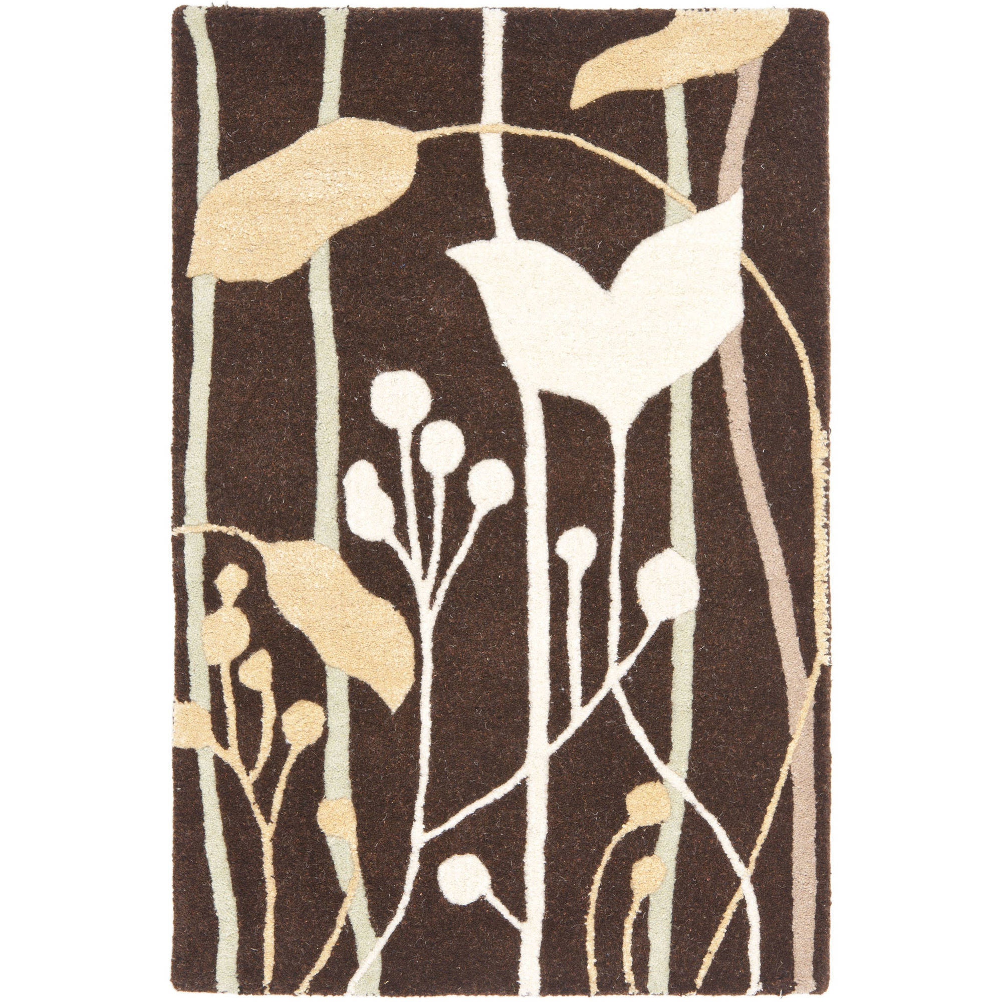 Safavieh Soho Jordan Wool Area Rug, Dark Brown/Multi-Color