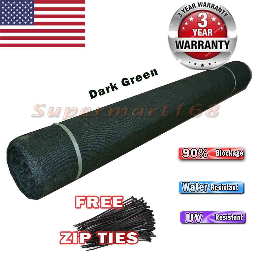 EVERGROW® 6' x 150' Dark Green Privacy Fence Screen Heavy Duty for Fence Privacy Screen Commercial Outdoor Shade Windscreen Mesh Fabric 150 GSM 90% UV Blockage 5 Years Warranty (G-FENCE-6X150-GREEN)