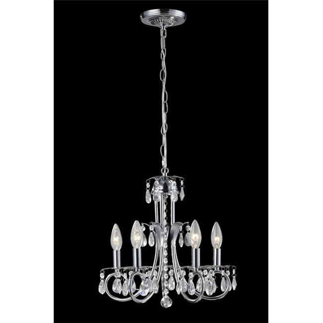 5 Light Chandelier Chrome Steel  Crystal - image 1 de 1