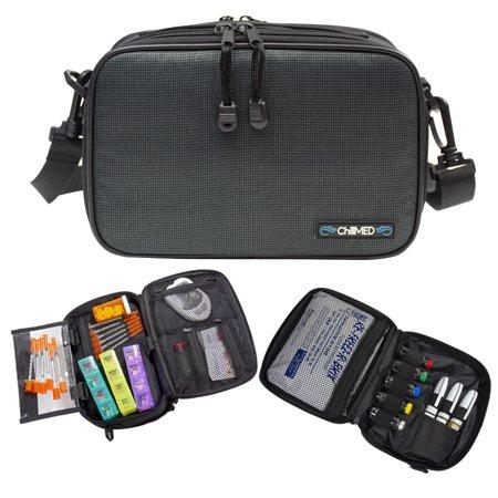 Cooler Bag Kit - ChillMED Elite 2 Diabetic Organizer Supply Kit | Insulin and Medication Travel Cooler Bag - Slate