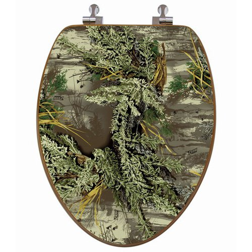Topseat 6TSPE2159CP Realtree Camouflage (Max-1 Pattern) Elongated 3D Toilet Seat