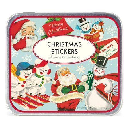 Cavallini Decorative Stickers Christmas, Assorted, 24 sheets of 100-plus assorted stickers per tin. By Cavallini Co ()