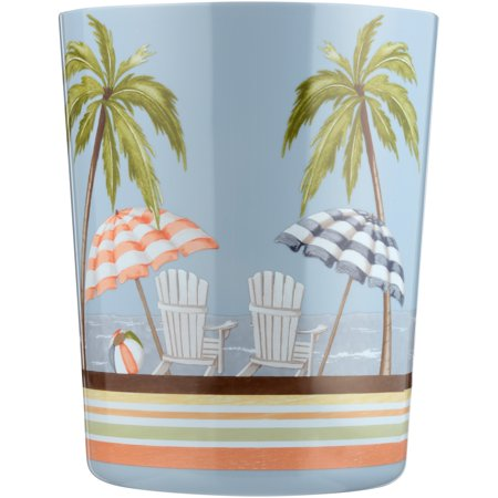 "Mainstays Catching Rays Bathroom Wastebasket, Multicolor, 9.41"" x 7.61"" x 7.61"""