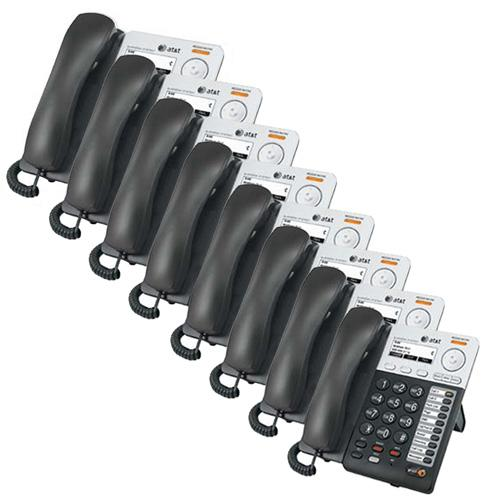 AT&T SB67025 Synapse Corded Extra Deskset 8 Pack On-Hook Dialing