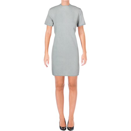 Cheap Monday Womens Cut-Out Back Crew-Neck Casual Dress Blue - 1920 Dresses Cheap