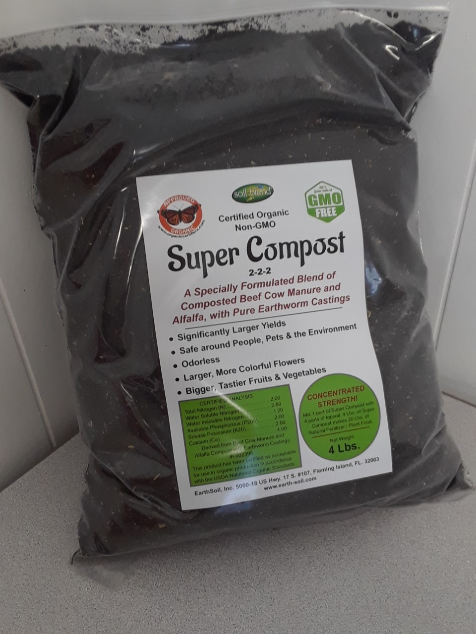 Super Compost Organic Fertilizer, Organic Plant Food, Specially Formulated blend of Worm... by EarthSoil, Inc.