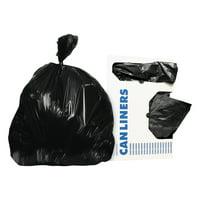 Heritage Low-Density Trash Bags, 20-30 gal, 0.5 mil, 30 x 36, Black, 250/Carton