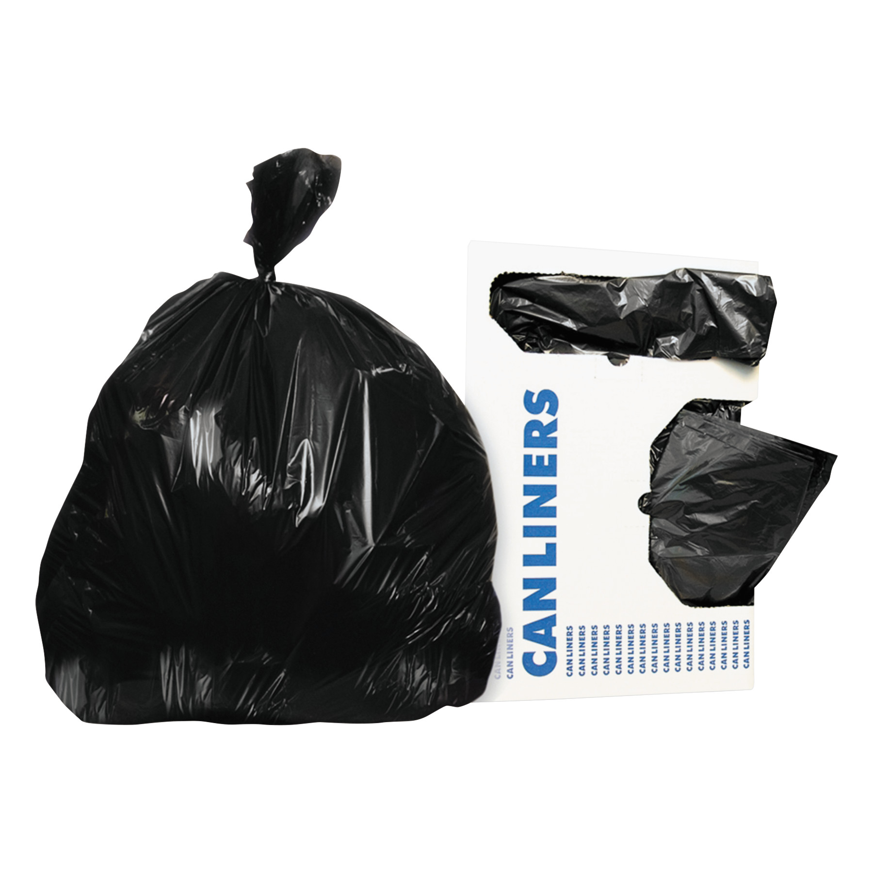 Heritage Low-Density Trash Bags, 20-30 gal, 0.5 mil, 30 x 36, Black, 250/Carton