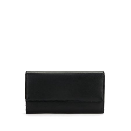 Foldover Leather Continental Wallet (Juicy Couture Wallets For Women)