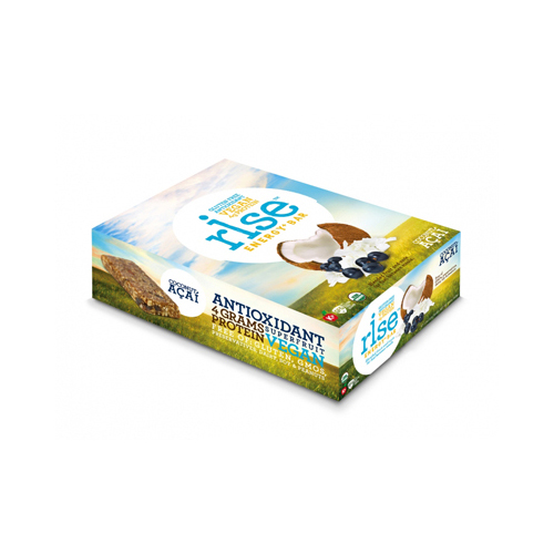 Rise Bar Energy Bar - Organic Coconut Acai - Case Of 12 - 1.6 Oz