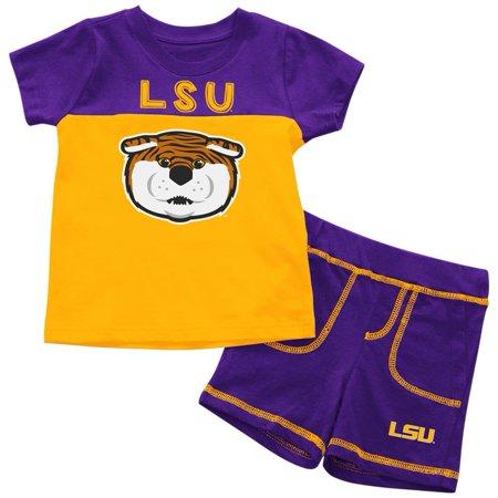 - LSU Tigers Louisiana State Infant T-Shirt and Shorts Boy's 2-Pc Set
