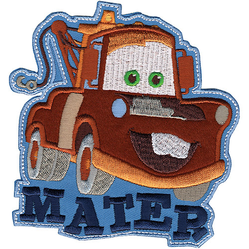 Disney Cars, Mater Iron-On Applique