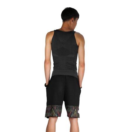 Men Slim Body Shaper Belly Fatty Underwear Vest Shirt Corset Compression Tops - image 8 of 10
