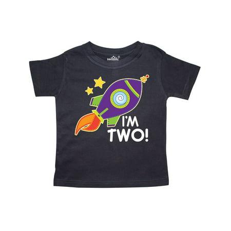 2nd Birthday Space Rocket Boys Toddler T Shirt