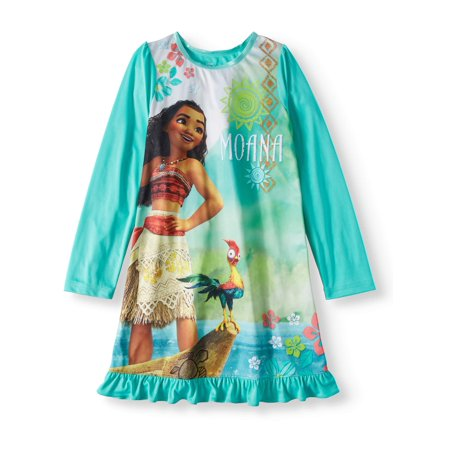 Moana Girls' Long Sleeve Nightgown