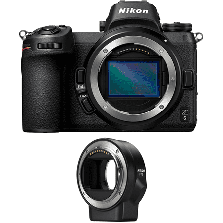 Nikon Z6 24.5MP FX-format Full-Frame Mirrorless Camera (Body) with FTZ Mount (Best Budget Full Frame Mirrorless Camera)