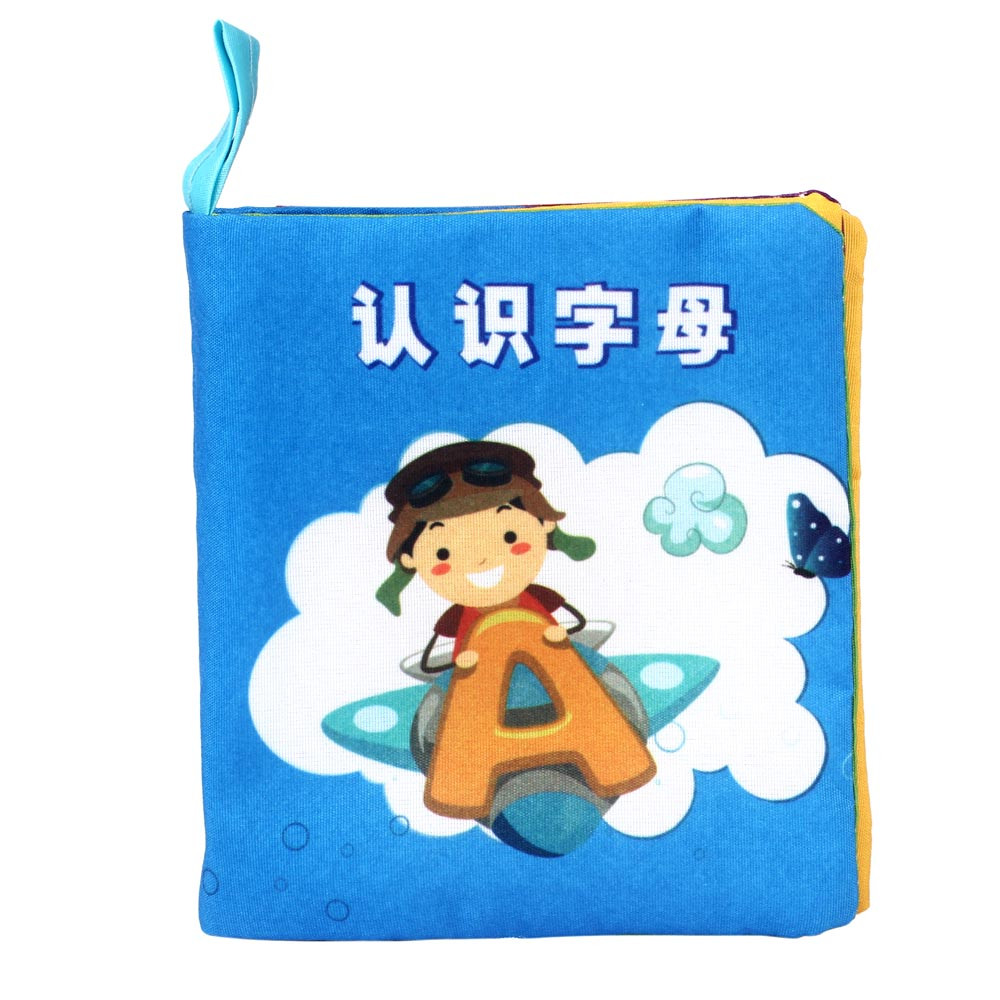 Mosunx Soft New Cloth Baby Intelligence Development Learn Picture Cognize Book