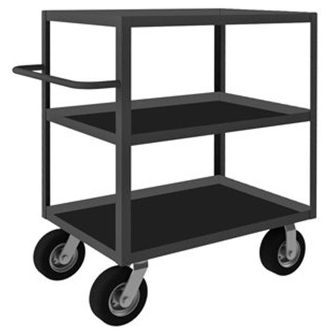 Durham RIC-243645-3-ALU-95 45 in. Rolling Instrument Cart, Gray - 1200 lbs