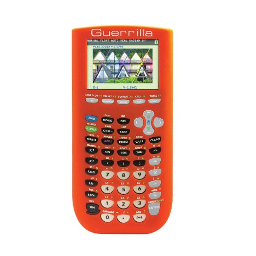 Guerrilla Silicone Case for Texas Instruments TI-84 Plus C Silver Edition Graphing Calculator, Orang