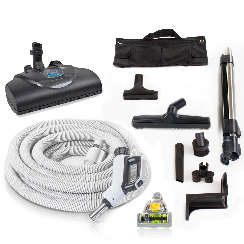 Premium Prolux 30 ft Universal Central Vacuum Hose Kit With Wessel Werk Power Nozzle