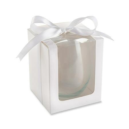 15 ounce stemless wine white box, set of 12 (Jewel Box Wine)