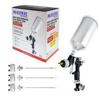 Master Pro 44 Series High Performance HVLP Spray Gun Ultimate Kit with 4 Fluid Tip Sets 1.3, 1.4, 1.5 and 1.8mm