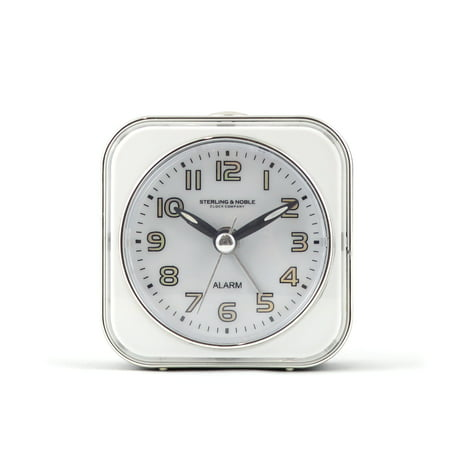 Sterling and Noble Analog Square Alarm Clock