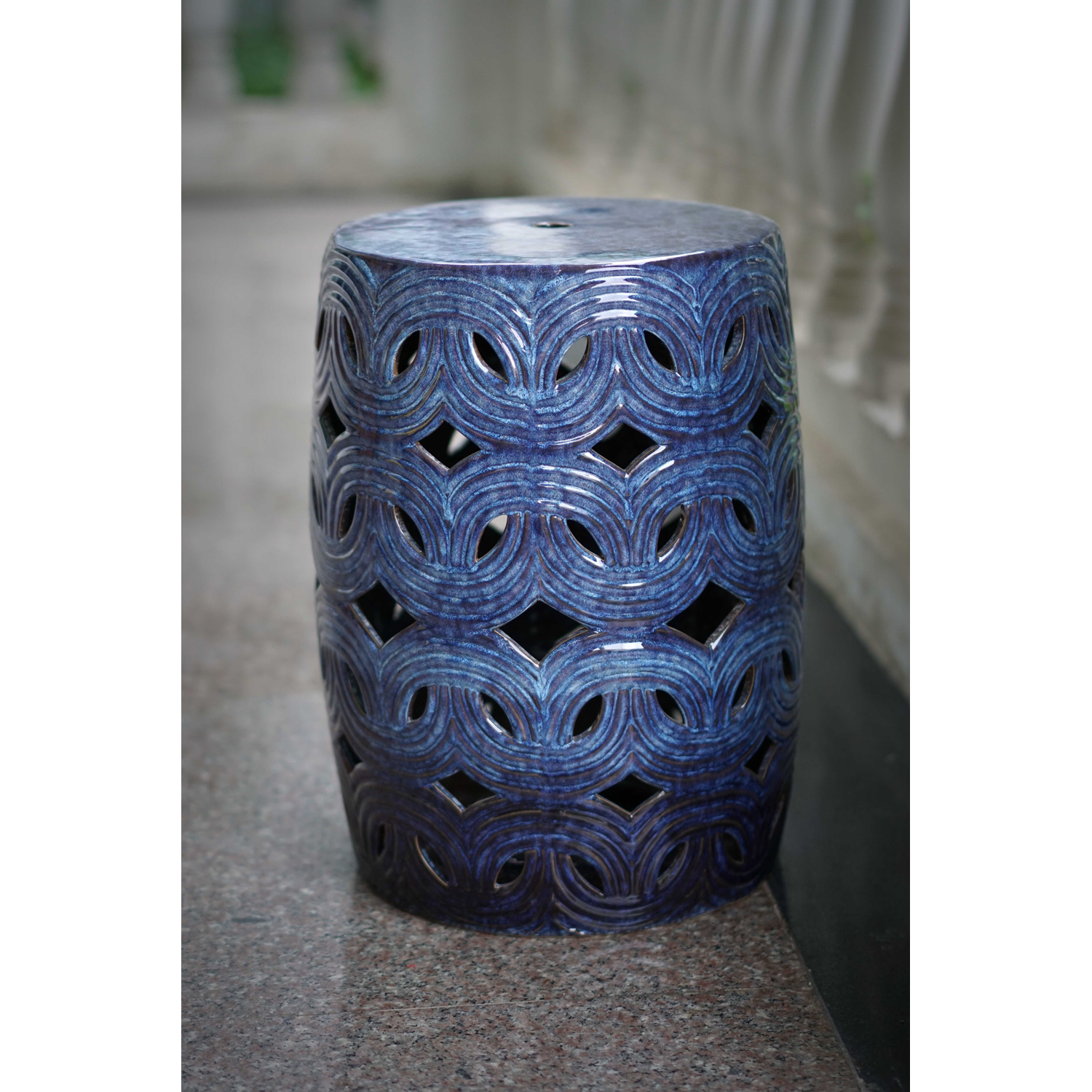 Better Homes and Gardens Oceanside 18 in. Outdoor Garden stool