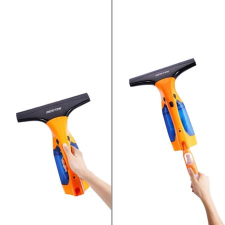 Handheld Squeegee (Lightweight Cordless Stick Handheld Upright Window Vacuum Cleaner,Window Cleaning Rechargeable Tool Kit Squeegee with Sponge,with 2 Extension Telescopic Tube,Spray Bottle-ETL)