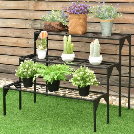 Costway 3 Tier Shelf Flower Plant Display Stand Rack Large
