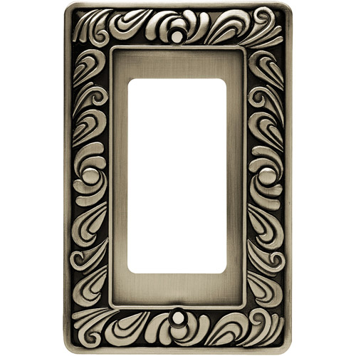 Brainerd Paisley Single-Decorator / GFCI Wall Plate, Available in Multiple Colors