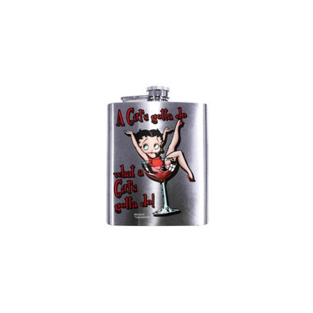 SPOONTIQUES 15686 7OZ  HIP FLASK  BETTY BOOP A GIRL    S GOTTA Broncos Hip Flask