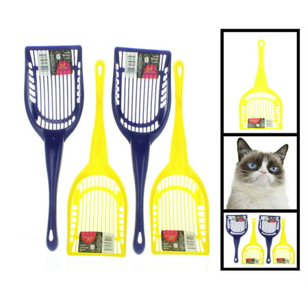 lot of 4 cat litter box tray scoop clumping kitty poop cleaning plastic tool