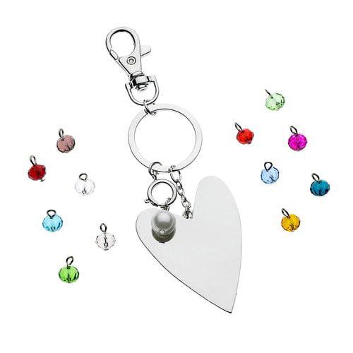 Silvertone Heart Purse Charm