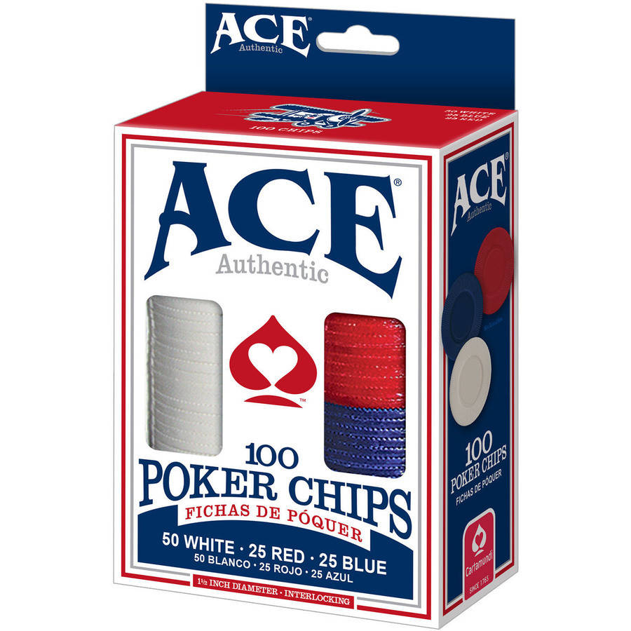 Ace 100 Count Poker Chips by CARTAMUNDI
