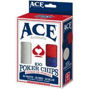 Ace 100 Count Poker Chips by CARTAMUNDI