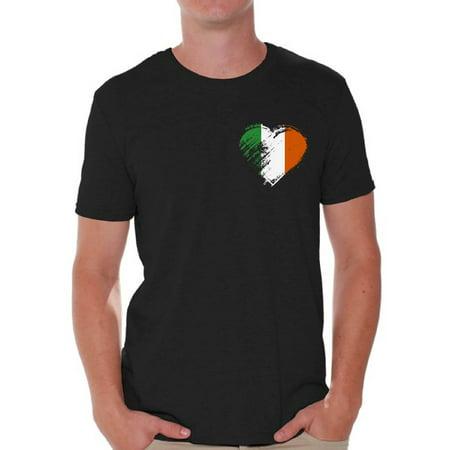 275c1bd00a Awkward Styles Irish Heart Pocket Shirt St. Patrick s Day T-Shirts for Men  Irish